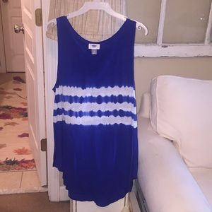 Blue and white soft tank top. NWOT
